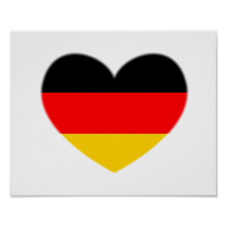 Germany Flag Heart Posters
