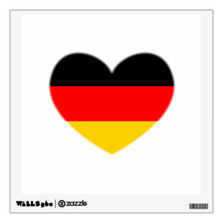 Germany Flag Heart Wall Decals