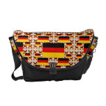 Germany Flag in Multiple Colorful Layers Courier Bag