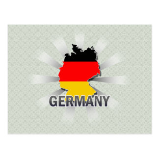Germany Flag Map 2.0 Postcard