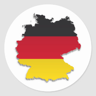 Germany Flag Map_2 Classic Round Sticker