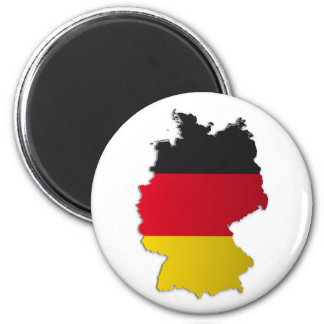 Germany Flag Map 2 Inch Round Magnet