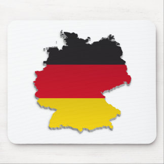 Germany Flag Map_2 Mouse Pad
