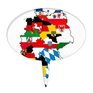 germany flag map cake topper