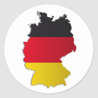 Germany Flag Map Classic Round Sticker