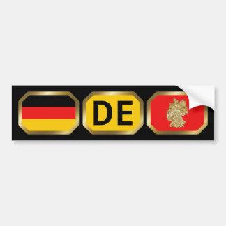 Germany Flag Map Code Bumper Sticker