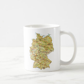 Germany Flag ~ Map Mug