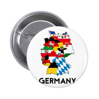 germany flag map pinback button
