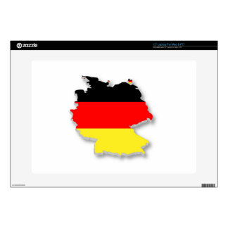 "Germany Flag Map 15"" Laptop Skin"