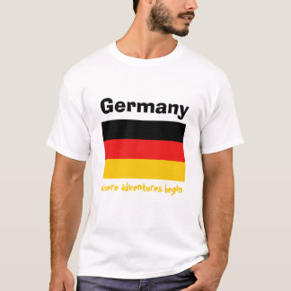 Germany Flag + Map + Text T-Shirt