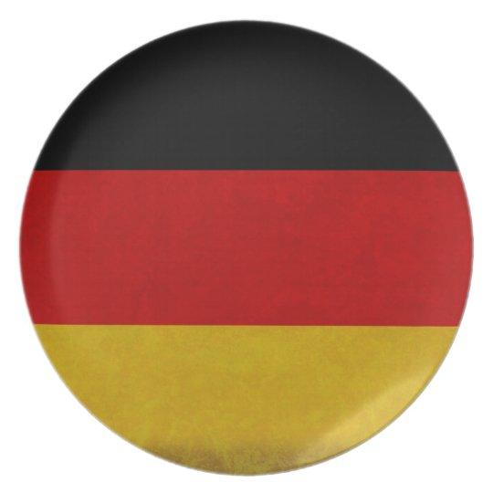 Germany flag melamine plate