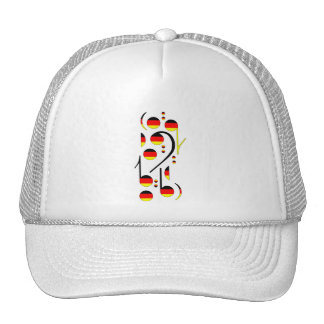 Germany Flag Musical Notes Mesh Hat