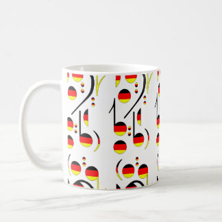 Germany Flag Musical Notes Coffee Mugs