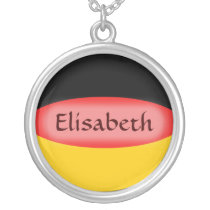 Germany Flag   Name Necklace