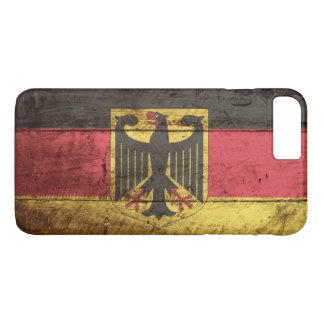 Germany Flag on Old Wood Grain iPhone 8 Plus/7 Plus Case