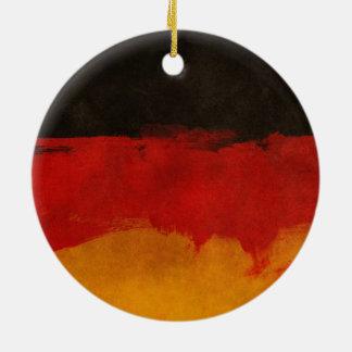 Germany Flag Paint Grunge Design Ceramic Ornament