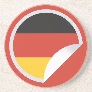 Germany Flag Peel-off Sticker Coaster