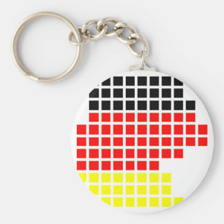 Germany flag pixel Germany Design Keychains