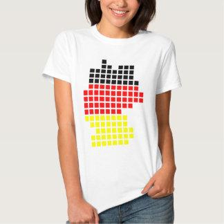 Germany flag pixel Germany Design Tee Shirt