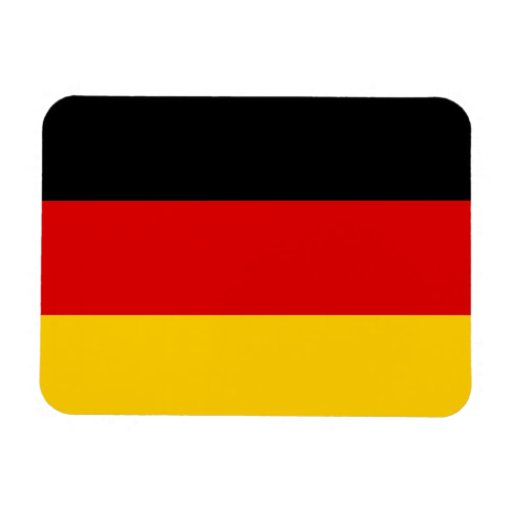Germany Flag Rectangle Magnets