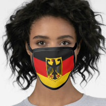 Germany Flag Red Black Yellow Coat Of Arms Face Mask