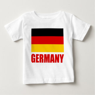 Germany Flag Red Text Baby T-Shirt