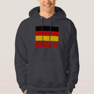 Germany Flag Red Text Hoodie