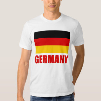 Germany Flag Red Text Shirt