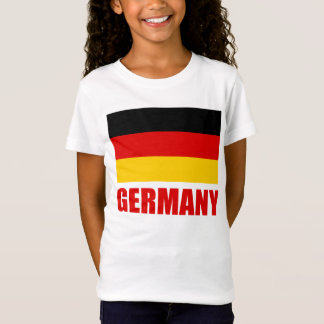 Germany Flag Red Text T-Shirt