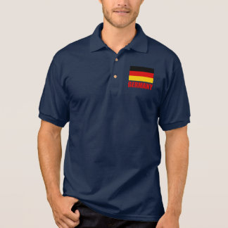 Germany Flag Red Text Tees