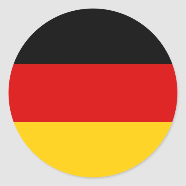 Germany Flag Round Stickers Zazzlecom - Create Your Own Wall Stickers