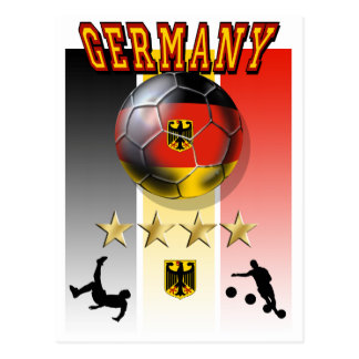 Germany Flag Soccer Champion 2014 Four Times Postcard