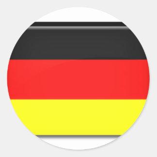 Germany Flag Round Stickers