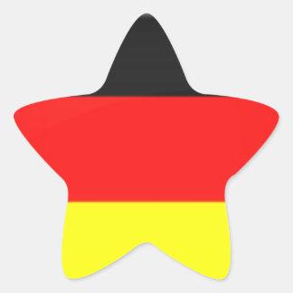 Germany Flag Star Stickers