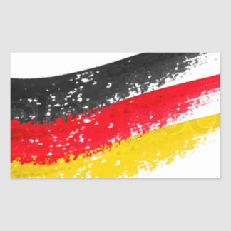 Germany Flag Rectangular Stickers