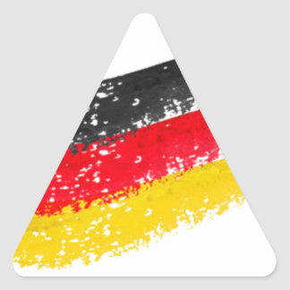 Germany Flag Triangle Stickers