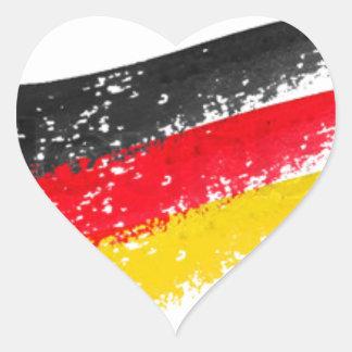 Germany Flag Heart Sticker