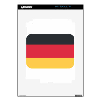 Germany flag using Twitter emoji Decals For iPad 2