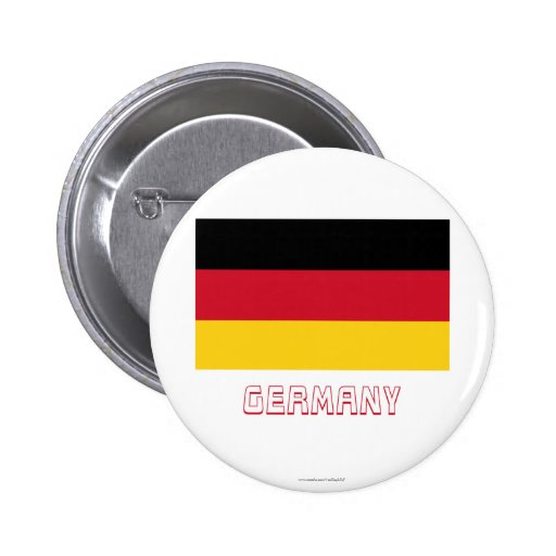 Germany Flag with Name Button