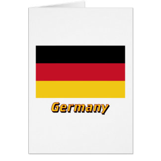 Germany Flag with Name Card