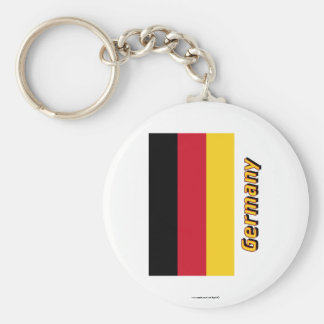 Germany Flag with Name Key Chain