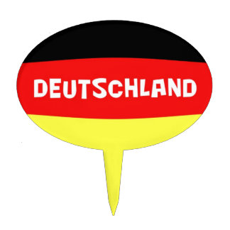 Germany Flag with wording Cake Topper