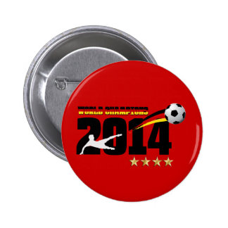 Germany Flag World Champion 2014 Soccer Buttons