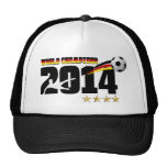 Germany Flag World Champion 2014 Soccer Mesh Hats