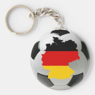 Germany football basic round button keychain