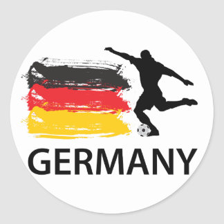 Germany Football Classic Round Sticker