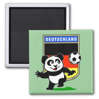 Germany Football Panda 2 Inch Square Magnet