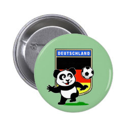 Round Button with German Football Pand design