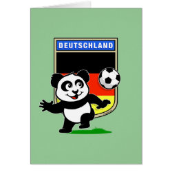 Greeting Card with German Football Pand design