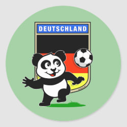 Round Sticker with German Football Pand design